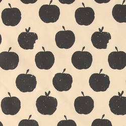 Organic Cotton nature with grey apples
