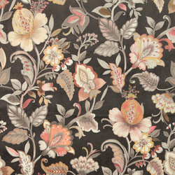 Upholstery velvet brown w flower pattern