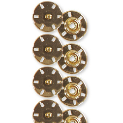 Snap fastener 21mm gold 4 pcs