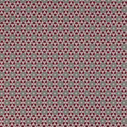 Cotton red/grey pattern