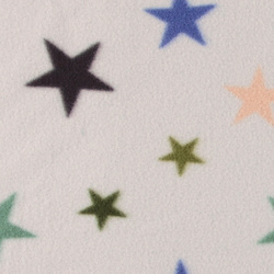 Polar fleece lt grey w multicolor stars