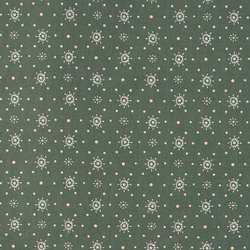 Cotton green w grey/rose pattern