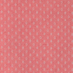 Woven red slub w light jacquard pattern