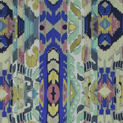 Percale blue/green bohemian pattern