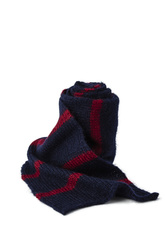 STRIPED SCARF IN KID MOHAIR
