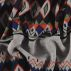 French terry grey melange w inca print