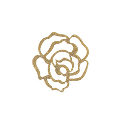 Patch rose 60x55mm gold 1 pcs