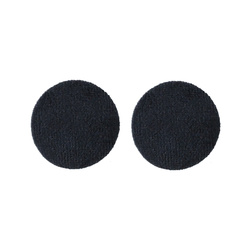 Shank button velour 30mm dark blue 2pcs