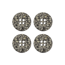 Button 2 holes 25mm grey 4pcs