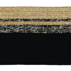 2x2 rib 10x80cm black/ocher/gold lurex