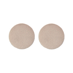 Shank button velour 30mm powder 2pcs