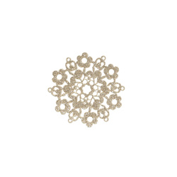 Patch flower 55x55mm gold 1 pcs