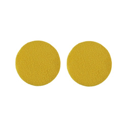 Shank button velour 30mm curry 2pcs