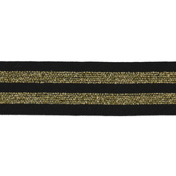 Elastic 38mm black/gold 2m