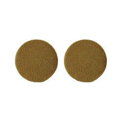 Shank button velour 30mm lightbrown 2pcs