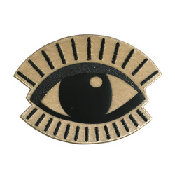 Patch eye 110x82mm sand 1 pcs