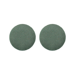 Shank button velour 30mm dark green 2pcs