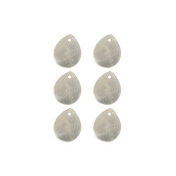 Pendant drop 14x12mm mother of pearl 6pc
