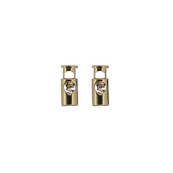 Cord lock dull 23x10mm gold 2pcs