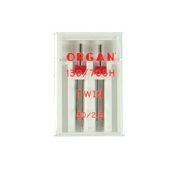 Twin needle 2,5mm size 80 2 pcs