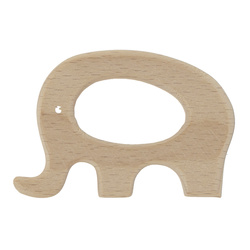 Wooden ring 69x47mm elephant 1 pc
