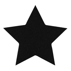 Patch star 140x140mm black 1pcs