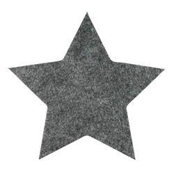 Patch star 155x149mm dark grey 1pcs