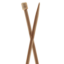 Knopped pins PONY bamboo 33cm size 8,0mm