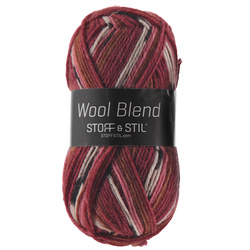 Knitting yarn wool blend terracotta mix