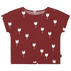 Stretch jersey dusty red w white tulips