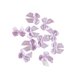Bow satin light purple 10pcs