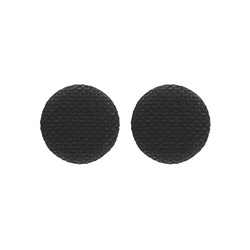 Shank button fabric 30mm black 2pcs