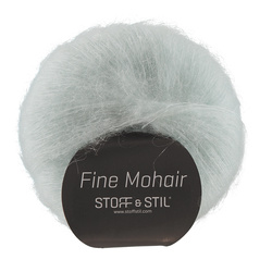 Knitting yarn fine mohair light aqua