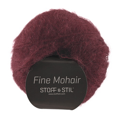 Knitting yarn fine mohair bordeaux