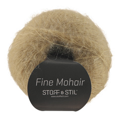 Knitting yarn fine mohair light caramel