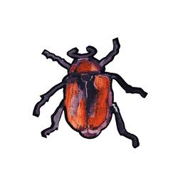 Patch beetle60x60mm orange 1pc