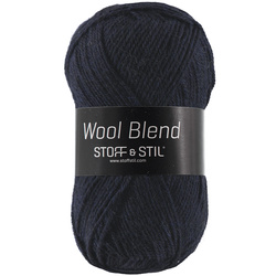 Knitting yarn wool blend marine melange