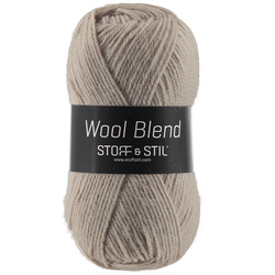 Knitting yarn wool blend sand