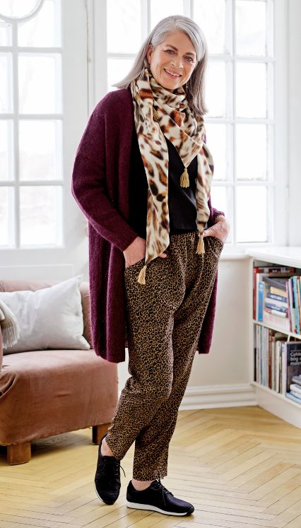 Scarf, top and trousers