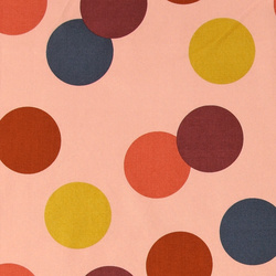 Woven cotton dusty rose with polka dots