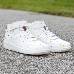 Dotted shoes with color up
