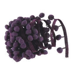 Pom pon ribbon 10mm purple 3m