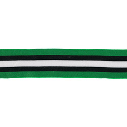 Ribbon knit 45mm green/black/white 2m