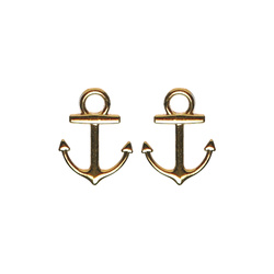 Pendant anchor 19x14mm gold 2stk