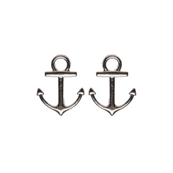Pendant anchor 19x14mm silver 2stk