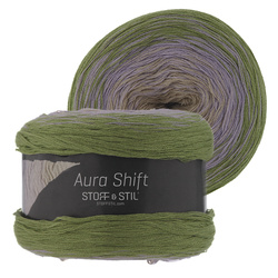 Aura Shift Wool, Grün/Lila/Sand, 150g