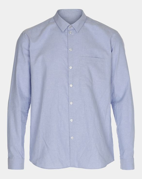 Men's shirt in blue woven oxford