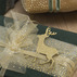 Runner organza 35cmx5m nature/gold