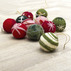 Kit wool baubles 60mm green 6 pcs
