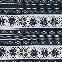 Stretch jersey navy/white knit pattern
